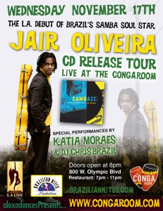 Jair Oliveira Brazilian Event Flyer